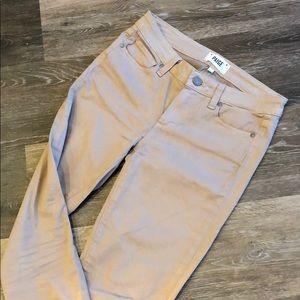 Paige khaki skinny jeans sz 28